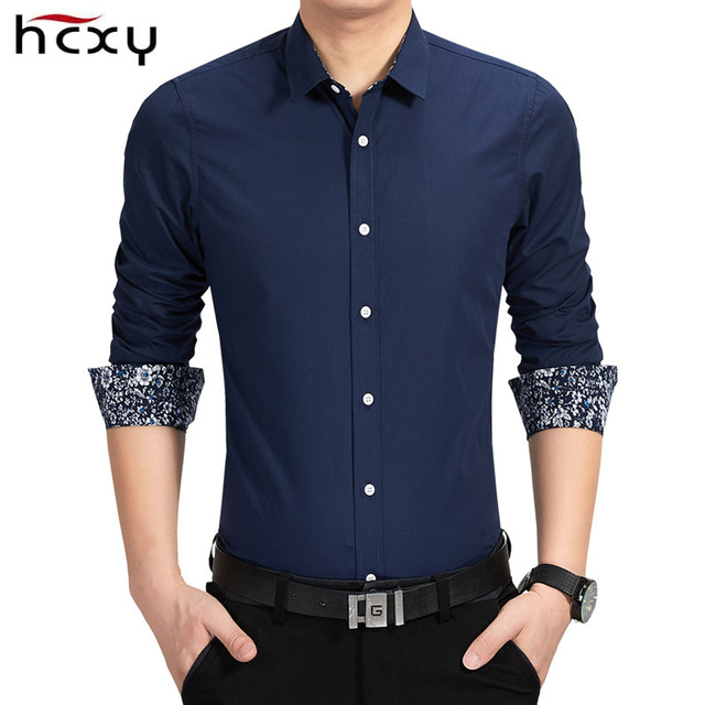 fab26315a2 2016 Nuevo primavera camisas de algodón para hombre de alta calidad de  manga larga mens Camisa