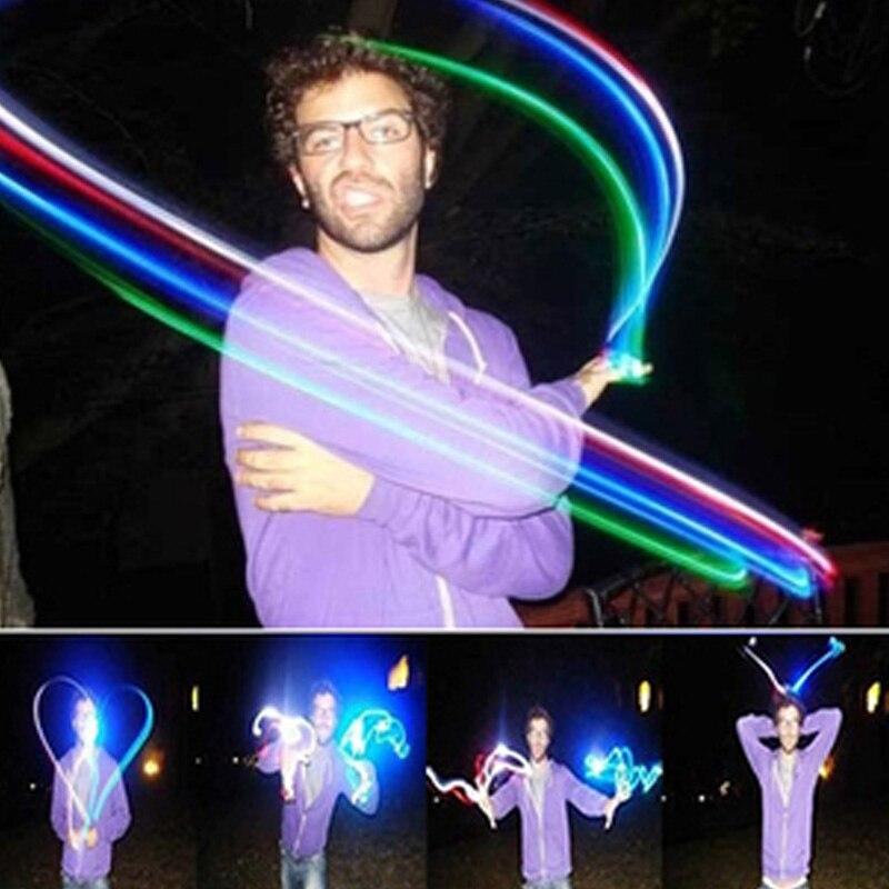 2018 קידום 100 יחידות אצבע צעצוע זוהר זוהר ניאון מקל מבריק קורות Led טבעת אור Shinning ריקוד מסיבת אירוע חגיגי אספקת