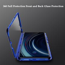 360 Full Protection Screen & Back Tempered Glass Case For Vivo Iqoo Luxury Aluminum Metal Magnet Bumper Cover