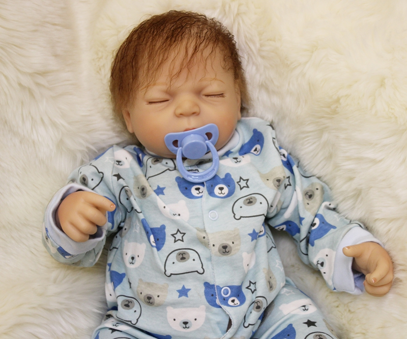 "Doll reborn toys for sale 20"" real sleeping boy reborn babies silicone vinyl dolls toys"