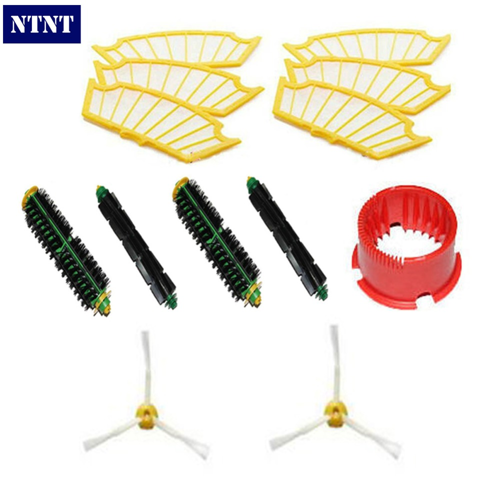 купить NTNT Free Post New Side brush Filter 3 armed kit For iRobot Roomba Vacuum 500 Series Clean Tool дешево