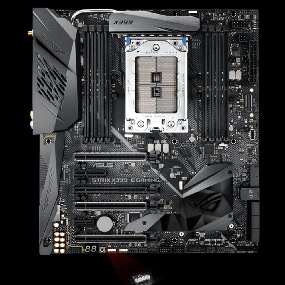 все цены на ROG STRIX X399-E GAMING X399 Computer Motherboard Mainboard 8*DIMM Support 128GB 2*M.2 USB 3.1 Gen 2 With RGB Light