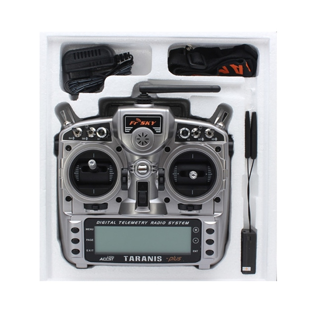 New FrSky Taranis X9D Plus 2.4G ACCST Transmitter With X8R Receiver selection For RC Multicopter Part Racing drone 3