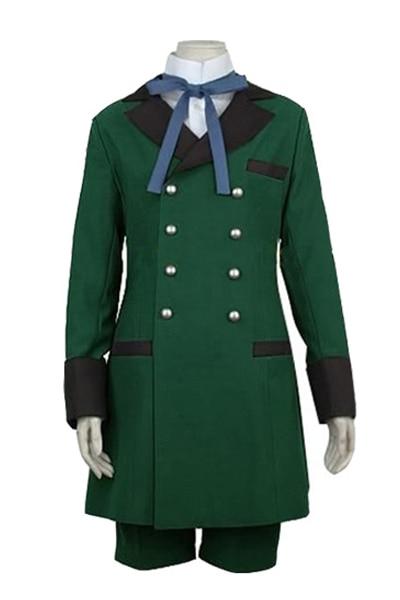 Black Butler Cosplay Costume kuroshitsuji Ciel Phantomhive Green Unisex Uniform Anime Halloween ostumes Custom Made Full Set