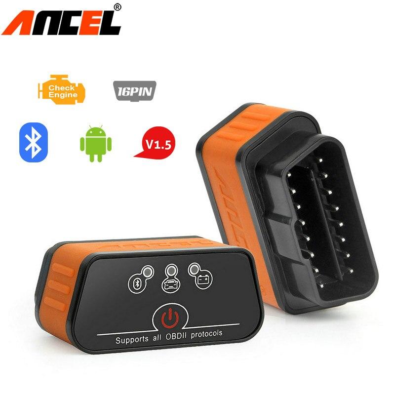 Ancel iCar2 OBD2 Bluetooth Android ELM327 Pic18f25k80 Scanner Car Diagnostic Tool OBD 2 ELM327 v1.5 Scanner Automotive obd2 odb2