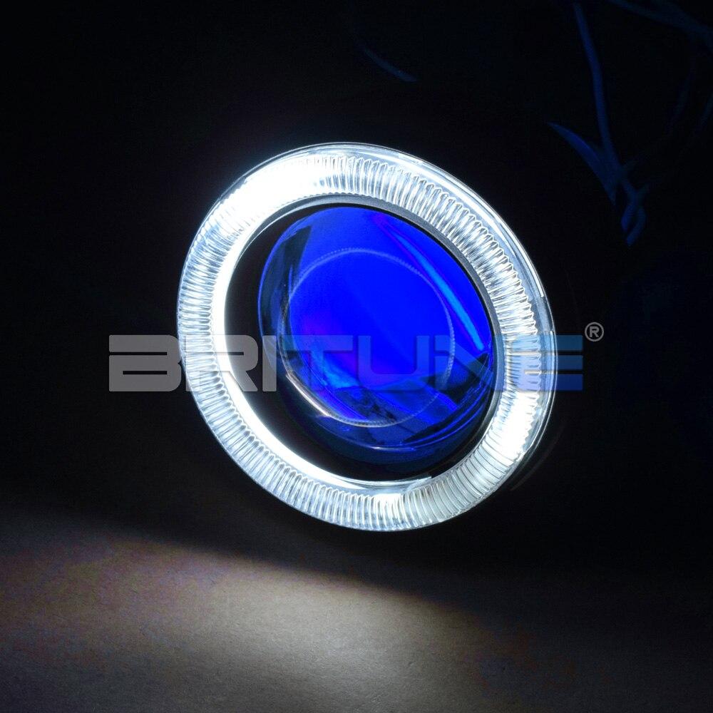 Motocykl soczewki reflektorów Bi-reflektor ksenonowy 2.0 ''CCFL Angel Eyes diabeł zestaw H7 H4 H1 reflektor akcesoria do