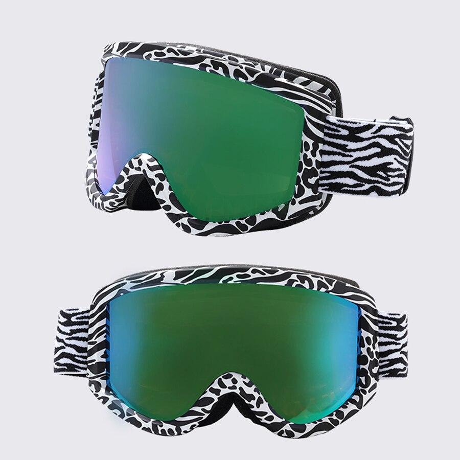 Gsou Snow двухслойные большие сферические линзы для мужчин и женщин лыжные очки 100% защита от ультрафиолета противотуманные лыжные очки близору... - 4
