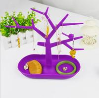 Boutique Fashion Color Creative Jewelry Rack Pendant Ring Earrings Display Stand Bird Tree Display Rack Wholesale