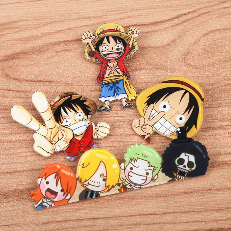 Fffpin One Piece 1 Piece Monkey D Luffy Chopper Brooch Expression Badge Pin Coin Icon Japan Popular Anime Cosplay Game Role