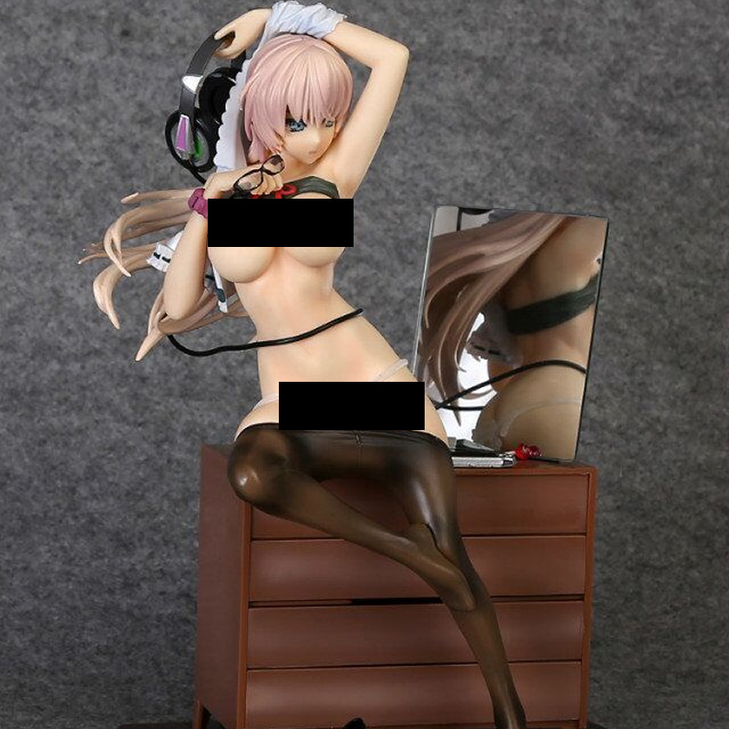 Japan Anime Action Figure Native Creators Gamer Girl 27cm Sex Girl Hentai Sexual Cartoon Toys PVC Collectible Model brinquedos ...