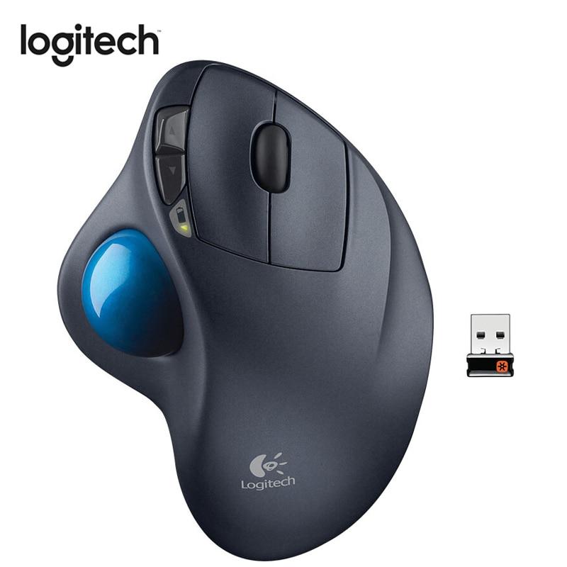 Souris sans fil Logitech M570 avec Trackball optique 2.4 DPI 1000 GHz souris ergonomique pour souris Gamer pour windows 10/8/7 Mac OS