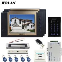 "JERUAN Wired 8""video doorphone Recording intercom system kit CCTV system New RFID  Touch Key password keypad Camera 8G SD Card"