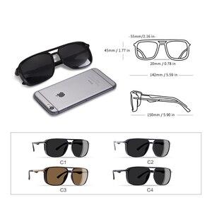 Image 4 - AOFLY מותג עיצוב משקפי שמש מקוטב גברים פאנק בציר משקפי Steampunk משקפי שמש משקפי Gafas דה סול AF8114