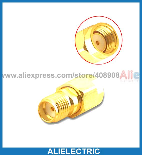 50pcs Gold Plated Copper Coaxial RF Adapter SMA Jack to RP SMA Plug Socket ph 45a gold plated copper testing probes silver golden 50 pcs