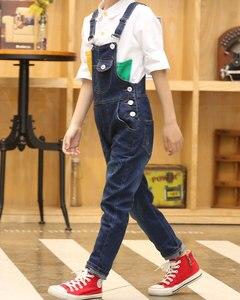 Image 3 - 2020 junge Insgesamt Kinder Denim Overall Kinder Overalls Jeans Frühling Mädchen Herbst Jungen Jeans Hosen Cowboy Taschen Outwears 2 15T