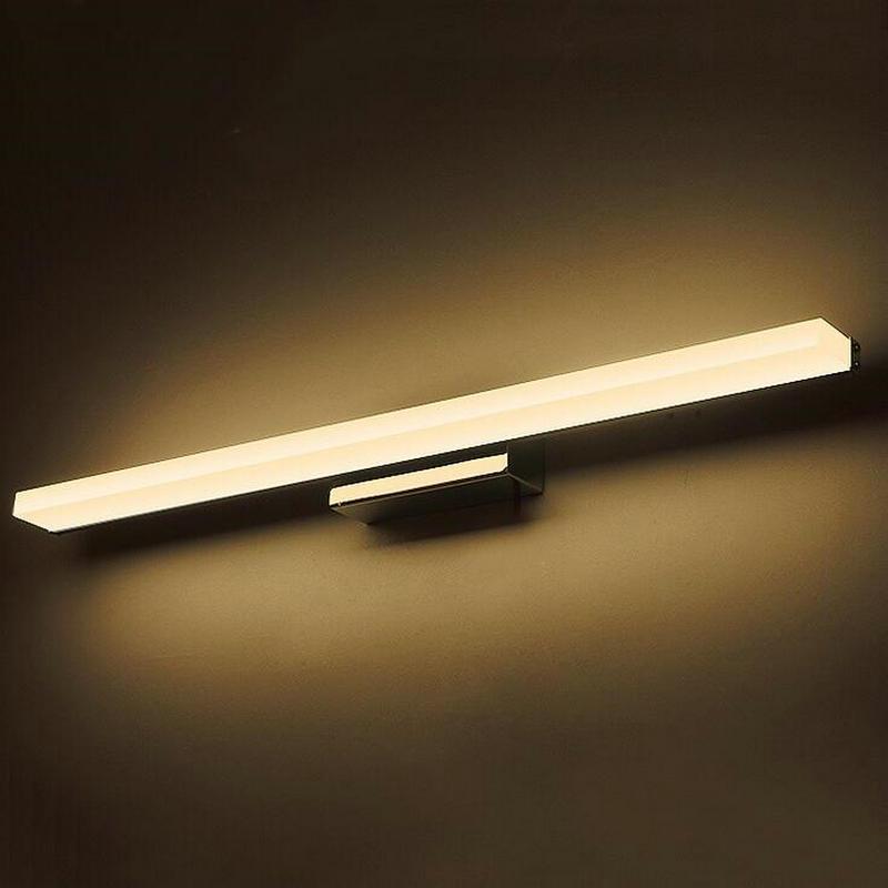 ФОТО Bathroom Rectangle Wall Light Mirror Front LED Lighting Waterproof Antifogging