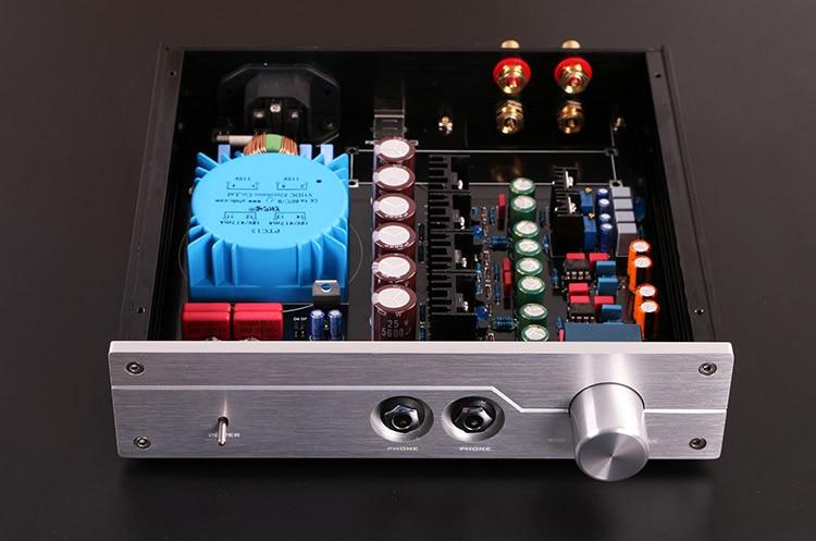 New HiFi A2-PRO Professional Headphone Amplifier DIY Kit Refer Beyerdynamic A2 AMP With aluminum chassis 3206 amplifier aluminum rounded chassis preamplifier dac amp case decoder tube amp enclosure box 320 76 250mm