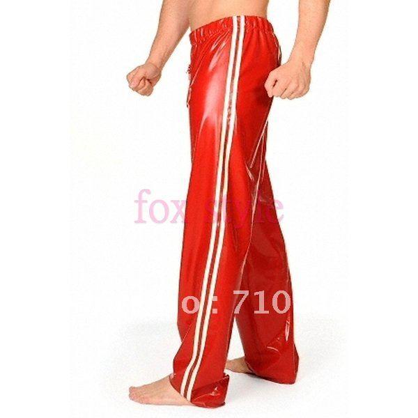 rubber latex pants for men