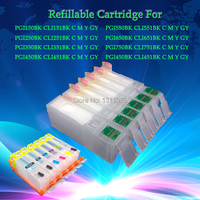 INK WAY 6C PGI-450 pgi450 CLI-451BK C M Y GY with chip refillable ink cartridge for canon MG6340 MG7140 IP8740