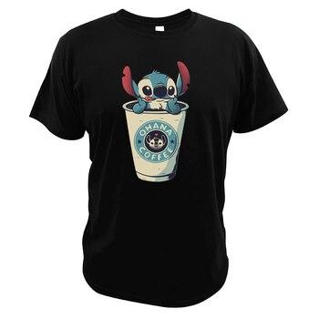 T-shirt Stitch Ohana café manches courtes coton