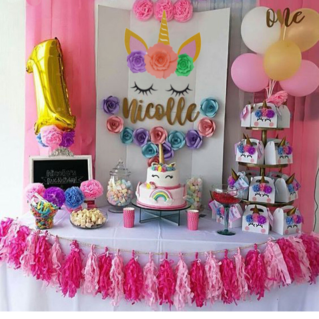 Birthday Party Decoration Kids Supplies Photo Prop Balloon Background DIY Unicorn Accessories Baby Shower Wedding