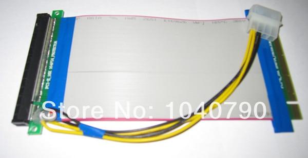 bilder für 10 teile/los PCI-E Express X16 Riser flachbandkabel mit Molex 4 Pin-stromanschluss stromversorgung für Grafikkarte bitcoin miner