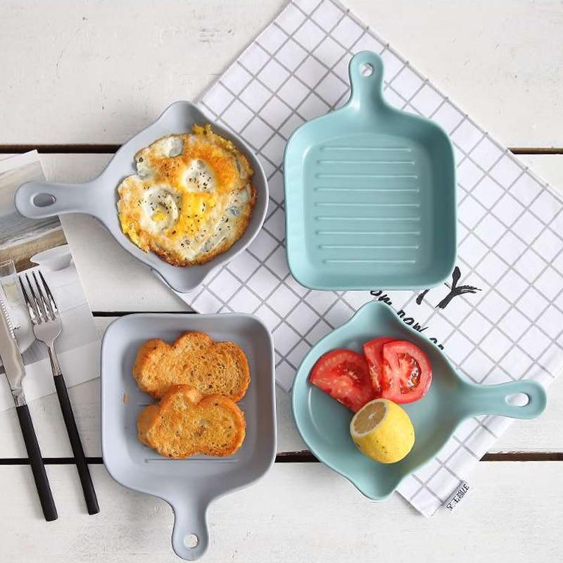 Stainless Steel Non-Stick Frying Pan Cookware Pancake Egg Pot Baking Pan Baking Ceramic Scrub Single Hand Bake Pan Nordic Style
