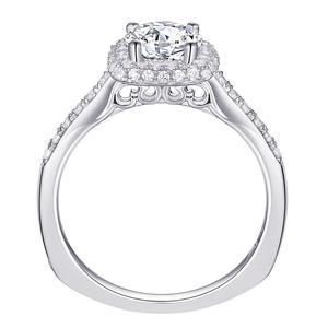 Image 3 - Newshe 2 個ハロー結婚指輪セットトレンディジュエリー 925 スターリングシルバー 1.6 ct ラウンド aaa cz の婚約指輪女性 1R0031