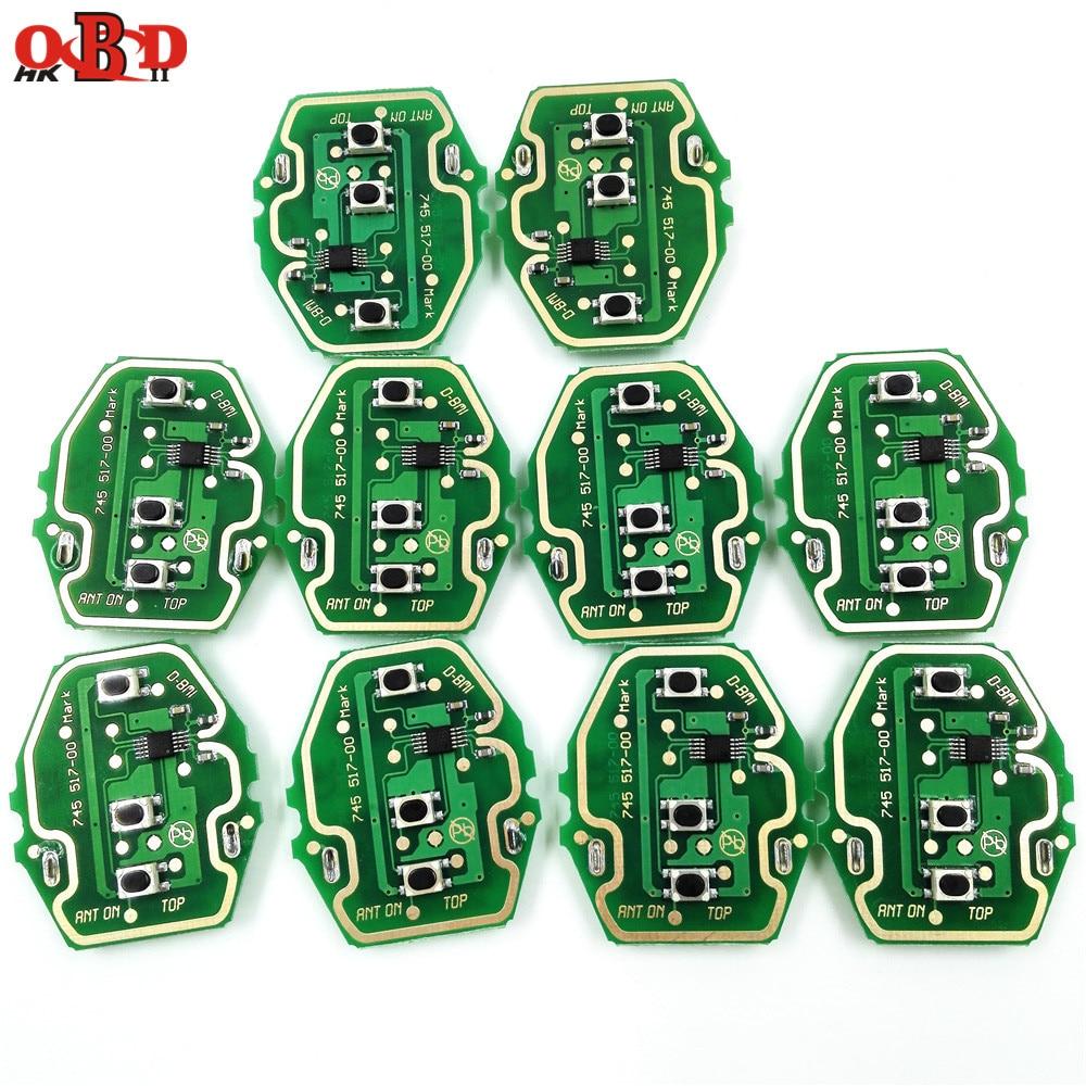 HKOBDII 10pcs lot 3 Button 433 315MHZ Remote Car Key Board For BMW X3 X5 E38