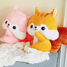 Hot Sale Lovely Squirrel Short Plush Toy Stuffed Animal Doll Creative Birthday Gift For Children
