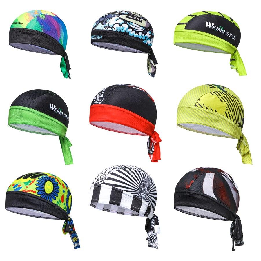 Unisex Bike Cycling Cap Headscarf Pirate Scarf Headband Men Women Hood MTB Racing Bicycle Hat Running Sport Fits Under Helmets