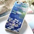 Caseier colorido óleo pintado casos para iphone 7 7 plus plus 6 arte 3d impresso padrão macio tpu super slim para samsung s6 s7 borda