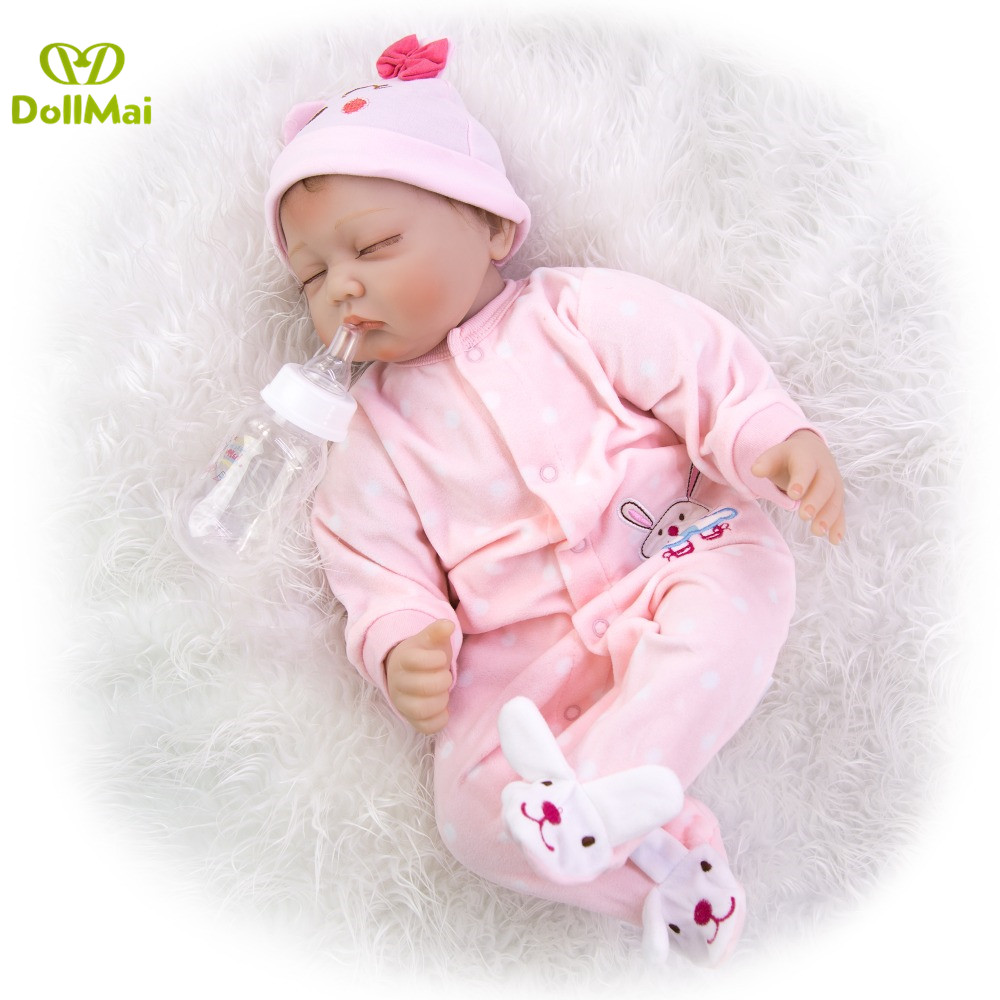 Bebes reborn real alive silicone doll toys for children gift 22inch 55cm soft touch BJD movable dolls