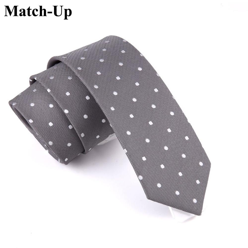 2016 New Men's Fashion Tie 6CM Were Thin Gray Tie Mature Business Career 3