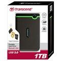 EUA Militar-grade Anti-shock Protection Transcender 25M3 USB 3.0 Criptografia de Disco Rígido Externo de 1 TB Hdd Disk Drive 1 T HDD