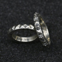 Couples Personality Thai Silver Ring Simple Sterling Silver Cross Hair Finger Index Fashion Retro Jewelry