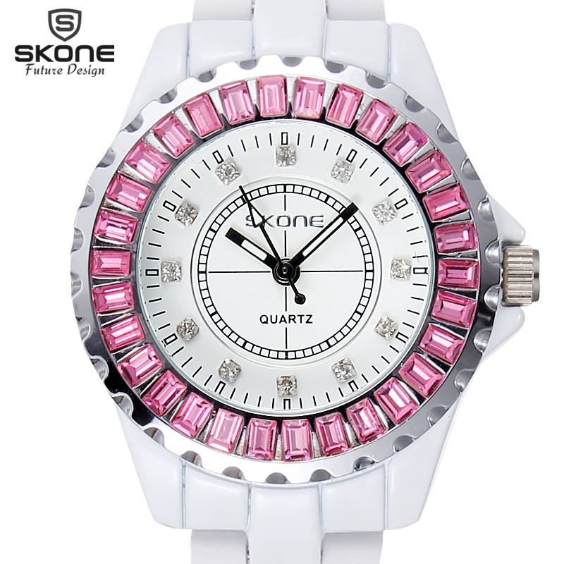SKONE Brand Watch Women  Luxury Fashion Casual Quartz Ceramic Watch Lady Relojes Mujer Women Wristwatches Dress Relogio Feminino skone relogio 9385