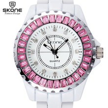 SKONE Brand Watch Women  Luxury Fashion Casual Quartz Ceramic Watch Lady Relojes Mujer Women Wristwatches Dress Relogio Feminino