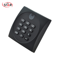 Free Shipping Wiegand 34 Proximity Smart IC Card Reader rf gate access control card rfid reader 13.56MHz with keypad