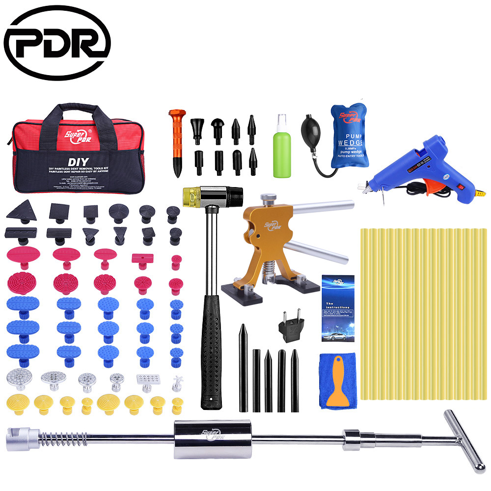 PDR Tools Paintless Dent Repair Tools Dent Removal Auto Repair Tool Dent Puller Kit Mini Lifter Suction Cup For Dent 89pcs/set watch link removal kit adjuster repair tool set with 5 pins