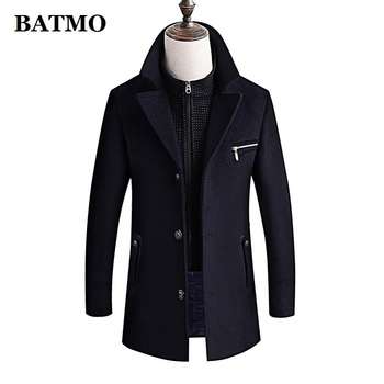 BATMO 2019 new arrival winter high quality wool thicked warm trench coat men,men's casual wool jackets ,plus-size M-4XL ,8863