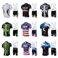 2019 Pro Cycling Clothing Cycling Sets Bike uniform Summer Mans Cycling Jersey Set Road Bicycle Jerseys MTB Bicycle Wear USA