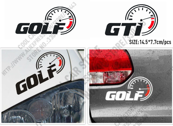 10 Sets Golf GTI car highspeed burst reflective stickers car stickers For volkswagen vw golf