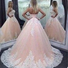 Кружево Бальные платья бальное платье с аппликацией, платье на шнуровке Милая светится в течение 15 лет и фуршетов великолепные Vestidos De 15 Anos