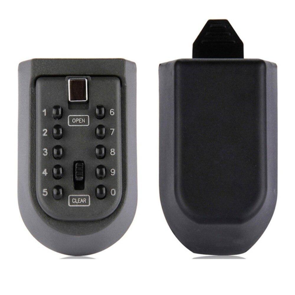Anti-theft Code Lock Box Lock Holder Mini Password Spare Key Lock Box Hot Sales Outdoor WaterProof Wall Mount Key Box Safety