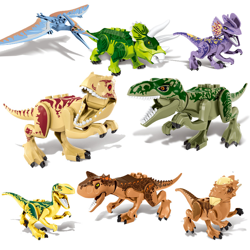 80 pz Jurassic Action Figure Del Mondo di Dinosauri Velociraptor Tirannosauri Rex Pterosauria Blocchi di Costruzione Giocattoli per I Bambini ZM30780 pz Jurassic Action Figure Del Mondo di Dinosauri Velociraptor Tirannosauri Rex Pterosauria Blocchi di Costruzione Giocattoli per I Bambini ZM307