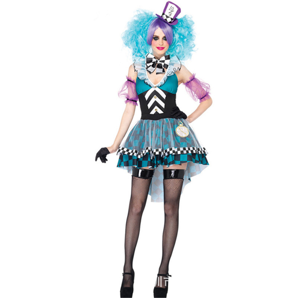 Halloween Sexy Dress in Wonderland Costumes Cosplay Women Girls Alice Princess Quess Female Carnival Carnival Costume