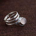 GZ Natural Rose Quartz Ring S925 Thai Silver Rings for women Jewelry 925 Sterling Silver anillos Male