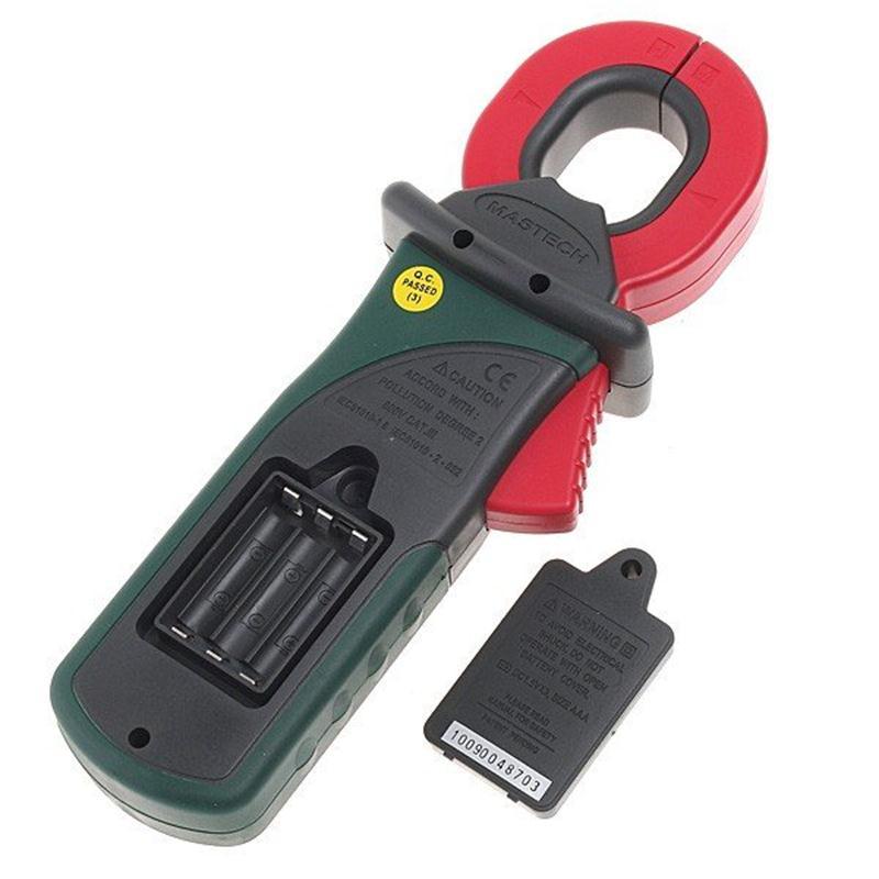 MASTECH MS2010B Digital Clamp Meter AC/DC Mini Handheld Tensão Corrente Resistência Tester Multímetro Multimetro com Cabos de Teste - 5
