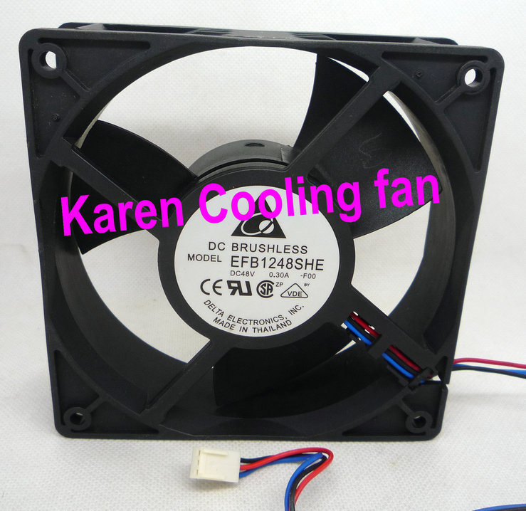 DELTA 2cm 12038 48v 0.3a 3wire  EFB1248SHE Cooling fan электрошашлычница delta кавказ 2